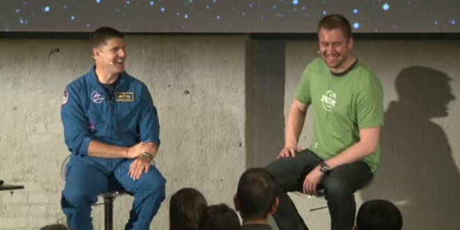 Jeremy Hansen and James Slifierz at the Waterloo Space Apps Challenge