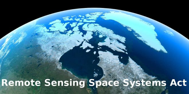 Remote Sensing Space Systems Act Canada