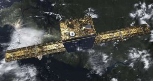 Artist rendering of the first ICEYE satellite X1