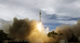 SpaceX Falcon 1 launch from Omelek Island in the Kwajalein Atoll in 2009
