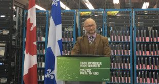 Liberal MP David Lametti announcing Strategic Innovation Fund investment for Advantech Wireless Technologies