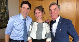 Bill Nye and Kate Howells of the Planetary Society meet with Prime Minister Trudeau