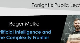 Roger Melko Public Lecture: Artificial Intelligence and the Complexity Frontier