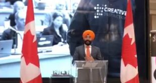 Honourable Navdeep Bains, Minister of Innovation, Science and Economic Development announces #25M in funding for the Creative Destruction Lab