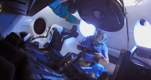 Canadian astronaut David Saint-Jacques is the first crew member to enter the SpaceX Crew Dragon capsule after it was docked to the International Space Station of is maiden voyage