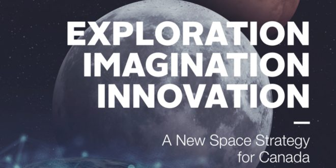 Part of the cover for the new Canadian Space Strategy.