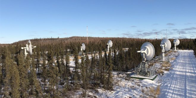 Inuvik ground stations, from left to right: Planet, Kepler Communications, Planet, KSAT (for Planet's SkySats), Planet, Planet