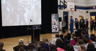 David Saint-Jacques speaks to students about Earth Day