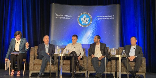 Scaling Up panel (left to right): Moderator Christine Tovee, Stephane Germain, Cordell Grant, Bachar Elzein and Daniel Schulten.