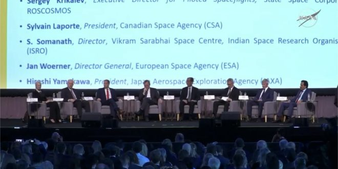 Heads of Space Agencies Panel Highlights Benefits of International Cooperation but Political Tensions Persist