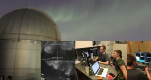 At AlbertaSat ground control Collin Cupido and Charles Noke ping the CubeSat