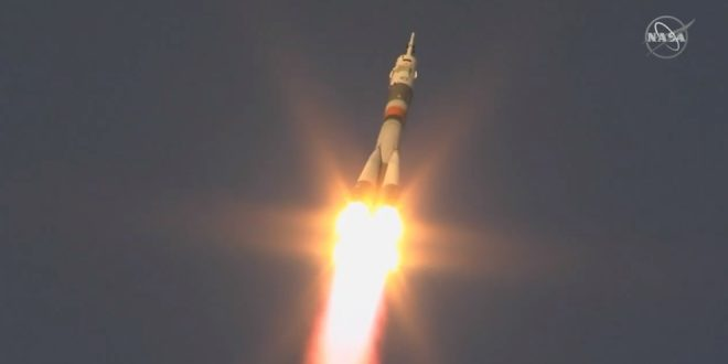 Soyuz MS-11 launch with the Expedition 58 crew onboard including Canada's David Saint Jacques