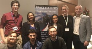 The Western University Centre for Planetary Science and Exploration crew at the Space Matters launch party at the Canadian Space Summit