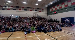Students from École Champs Vallée School, in Beaumont, Alberta