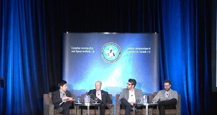 (Left to right) The panel was moderated by Jan Clarence Dee a Space, Euroconsult. The panelists were Erick Dupuis, Canadian Space Agency; Michele Faragali Mission Control Space Services; and John Walker, ispace Inc