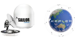 Cobham's SAILOR 600 steerable VSAT. Kepler's Global Ku-band high-throughput LEO satellite network
